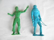 2 Five Inch Tall Toy Soldiers Eskimo and Native American (Indian)
