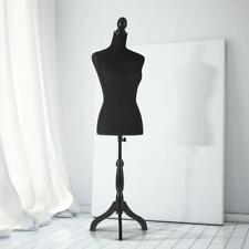 Black Female Mannequin Torso Dress Form Tripod Stand Clothing Display New