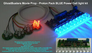 Ghost Busters Movie Prop - Kit luci cella di potenza proton pack LED blu 10mm