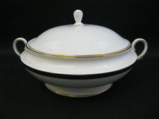 LENOX CHINA Federal Cobalt Gold~(1)~Round Covered Vegetable Bowl~1st Quality