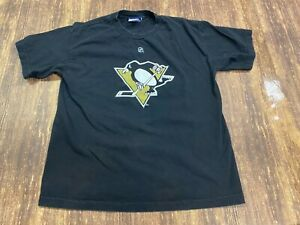 Sidney Crosby Pittsburgh Penguins Black NHL Hockey T-Shirt - Reebok - Youth XL