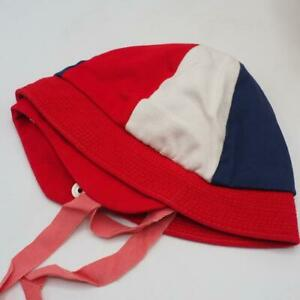 Baby Toddler Hat Cap 1960's Red White Blue Vintage