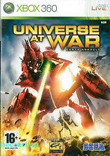 Xbox 360 Universe At War Earth Assault - Excellent Condition with book