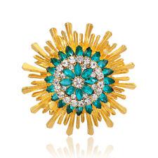 72804a5251b0 Color Nuevo Chic 18K Oro Plateado Flor Broche Pin Redondo Con Diamantes De  Imitación gafas