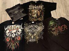 Band Concert Rock Tee Lot Of 5 Shirt Bundle 2XL Slipknot Slayer Stone Sour