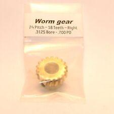 """NEW Generic Gear BWG-2418-SR Worm Gear  0.3125"""" Bore 24 Pitch 18 Teeth"""