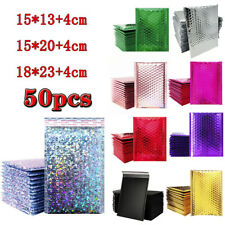 50Pcs Bubble Mailers Padded Envelopes Bags Lined Poly Mailer Self Seal