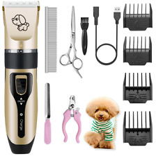 Pet Dog Clipper Grooming Trimmer Hair Low Noise Professional Electric Shaver Kit
