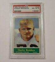 1964 Philadelphia #142 PSA 8 Charley Bradshaw Steelers 142