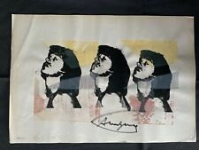 ANDY WARHOL - Silk-Screen signed on original paper of 70's - multi Mick Jagger