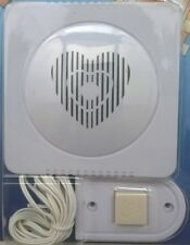 Wired Door Bell Chime Speaker White House Push Battery Operated Easy Fit