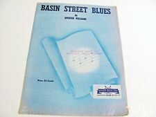VINTAGE - BASIN STREET BLUES - SHEET MUSIC BY SPENCER WILLIAMS