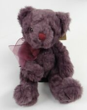 """RUSS BERRIE ~BEARS FROM THE PAST~Bearberry Baby (4641) 8"""" Purple Teddy Plush~NEW"""