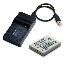 USB Charger + Battery for OLYMPUS LI-80B LI80B 202431 LI-80C X-36 T-100 T-110