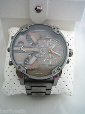 DIESEL WATCH MR DADDY 2.0 DZ7315 CHRONOGRAPH GUNMETAL MEN'S BNIB