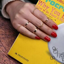 Stacking Band Mid Vintage Women 6 Pcs/Set Gold Jewelry Knuckle Rings Finger