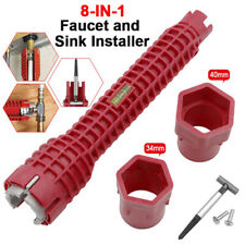 8 in 1 Multifunctional Wrench Kitchen Bathroom Faucet and Sink Installer Spanner