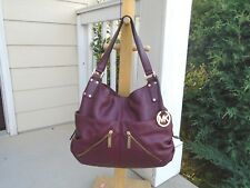 Michael Kors burgundy leather womens shoulder bag