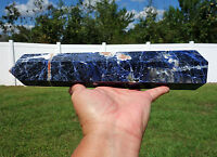 Large Blue SODALITE Crystal Point BRAZIL Premium Quality OBELISK Tower Wand