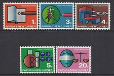 1967 PAPUA NEW GUINEA HIGHER EDUCATION SET OF 5 FINE MINT MUH/MNH