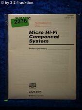 Sony Bedienungsanleitung CMT EX5 Component System (#2276)