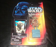 star wars POTF Yoda Orange card action figure MOC RARE  ESB ROTJ   114