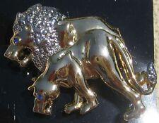 Lion / Lioness 50mm BROOCH FIBULA BROACH PIN BROOCHE CHARM