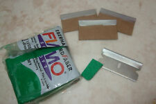 3 x ONE SIDED SAFETY BLADES FOR ALL YOUR POLYMER CLAY CRAFTS BEADS - BROOCHES