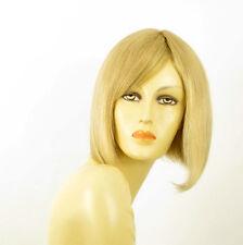 perruque femme 100% cheveux naturel mi-longue blonde ref MYLENE  22