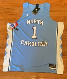 Nike Jordan Men's UNC Carolina Tar Heels #1 Replica Basketball Jersey NWT 2XL