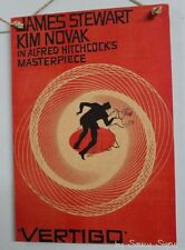 Vertigo Vintage Retro Movie Poster On Wooden Sign Hitchcock Novak James Stewart