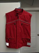 Ducati Red Reflective Zip Up Motorcycle Vest Size Medium