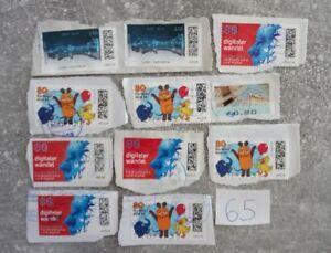 2021 Briefmarken Neuheuten Stempel Gestempelt Tintenstrahlentwertung Bund Lot