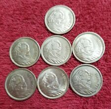 7. SILVER COINS FROM EGYPT  EACH 10 PIASTRES  LOT S12 UNC
