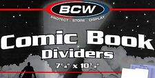 25 Comic Book Dividers for Short and Long Comic Storage Boxes - Index Divider