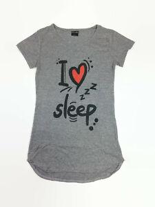 dELiA*s Juniors Gray I Love Sleep Short Sleeved Nightshirt Gown