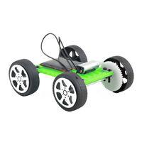1Pc Mini Solar Toy DIY Car Children Educational Puzzle IQ Gadget Hobby Robot H&T