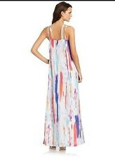 new RRP $610 MARK + JAMES by BADGLEY  MISCHKA SILK MAXI DRESS L 14 16