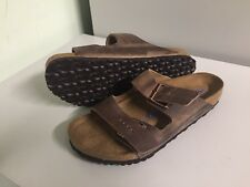 NEW BIRKENSTOCK ARIZONA SOFT FOOTBED MEN 10 EU43 OILED TOBACCO BROWN SANDAL $135