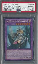 YuGiOh Dark Magician Girl The Dragon Knight Grade PSA 10 GEM MINT DRLG-EN004 1st