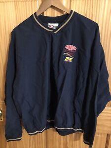 NASCAR Medium Mens Nylon Sweatshirt DuPont Jeff Gordon 24 Blue  (Apt-2128)
