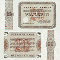 Banknote Warengutschein UNC 20 Deutsche Mark 1973 Bethel P-NLB6 SEHR SELTEN
