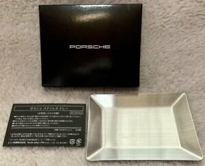 PORSCHE Stainless Tray Accessory Case Silver Japan VIP Gift Novelty Limited