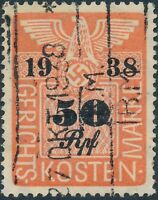 Stamp Germany Poland Revenue WWII Court Document Fee 1938 50 RPF Used