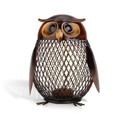Owl Model Piggy Bank Animal Design Metal Money Containers Home Decorations Gifts