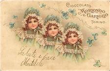 A9899) TORINO, CIOCCOLATO MORIONDO E GARIGLIO VG NEL 1901.