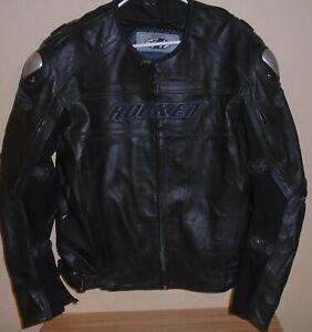 Joe Rocket Motorcycle  Leather Jacket padded size 46