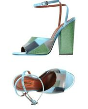 Missoni metallic and glittered green leather sandals