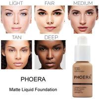 PHOERA Foundation Cream Liquid Concealer Oil-Controlling Matte Moisture Makeup