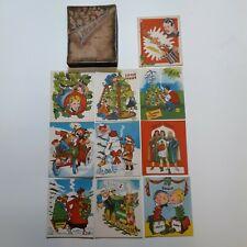 1951 Popular Comics Vintage Antique Christmas Cards Popeye Flash Gordon Cartoons
